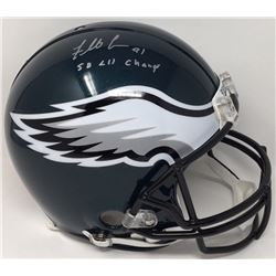 "Fletcher Cox Signed Eagles Full Size Helmet Inscribed ""SB LII Champs"" (Fanatics)"