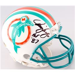 "Jim Langer Signed Dolphins Mini Helmet Inscribed ""HOF 87"" (MAB Hologram)"