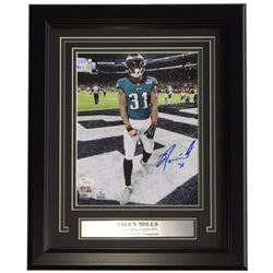 Jalen Mills Signed Eagles 11x14 Custom Framed Photo Display (JSA COA)