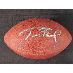 Tom Brady Signed Super Bowl XXXVIII Championship Logo Football (JSA LOA)