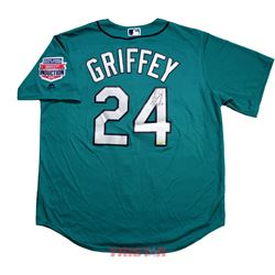 "Ken Griffey Jr. Signed Mariners Jersey Inscribed ""HOF 16"" (TriStar Hologram)"