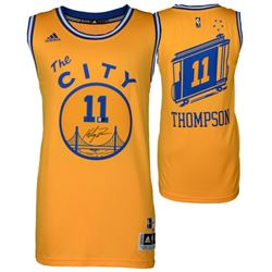 "Klay Thompson Signed Warriors ""The City"" Authentic Adidas Swingman Jersey (Fanatics)"