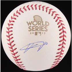 Yuli Gurriel Signed 2017 World Series Baseball (Schwartz COA)