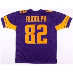 Kyle Rudolph Signed Vikings Color Rush Jersey (TSE COA)