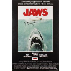 "Richard Dreyfuss Signed 24x36 ""Jaws"" Movie Poster (JSA COA)"
