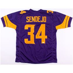 Andrew Sendejo Signed Vikings Color Rush Jersey (TSE COA)