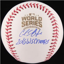 "Carl Edwards Jr. Signed 2016 World Series Baseball Inscribed ""2016 WS Champs"" (Schwartz Sports COA)"