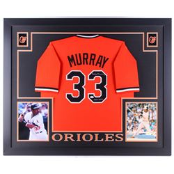 "Eddie Murray Signed Orioles 35x43 Custom Framed Jersey Inscribed ""HOF 2003"" (JSA COA)"