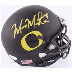 Marcus Mariota Signed Oregon Ducks Custom Matte Black Mini Helmet (JSA COA  Mariota Hologram)