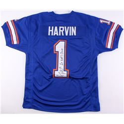 Percy Harvin Signed Florida Gators Jersey Inscribed  2x Nat'l Champ  (PSA COA)