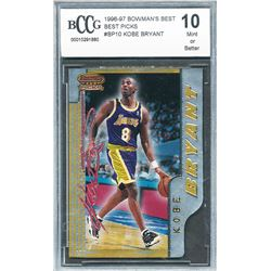 1996-97 Bowman's Best Picks #BP10 Kobe Bryant (BCCG 10)