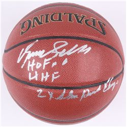 "Dominique Wilkins Signed Basketball Inscribed ""2x Slam Dunk Champ"", "" HOF 06""  ""HHF"" (Schwartz COA)"