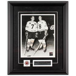 Bobby Hull  Gordie Howe Signed 14.5x17.5 Custom Framed Photo Display (Frameworth COA)