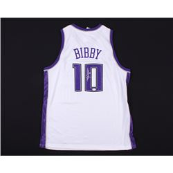 Mike Bibby Signed Kings Jersey (JSA COA)