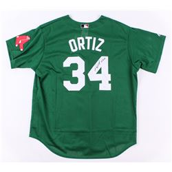 "David Ortiz Signed Red Sox Majestic Jersey Inscribed 04' WSC"" (JSA COA)"