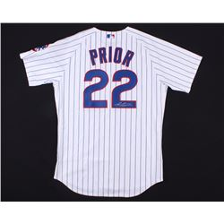 Mark Prior Signed Cubs Majestic Jersey (Schwartz COA)
