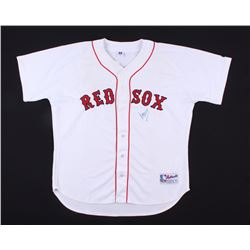 Manny Ramirez Signed Red Sox Russell Athletic Jersey (Mounted Memories Hologram  MLB Hologram)