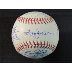 1978 Yankees Basbeall Team-Signed by (20) with Bucky Dent, Graig Nettles, Mickey Rivers, Sparky Lyle
