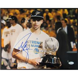 Stephen Curry Signed Warriors 11x14 Photo (JSA Hologram)