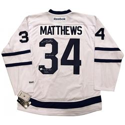 "Auston Matthews Signed Maple Leafs Limited Edition Jersey Inscribed ""2016 #1 Pick"" (Fanatics Hologra"