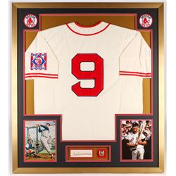 Ted WIlliams Signed Red Sox 34x38 Custom Framed Cut Display (PSA LOA)