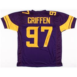 "Everson Griffen Signed Vikings Color Rush Jersey Inscribed ""BG"" (TSE COA)"