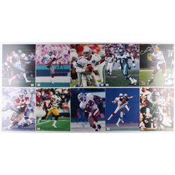 Lot of (10) 8x10 Football Photos with Rick Mirer, Colt Brennan, Dave Casper, Tommy Thompson (Autogra