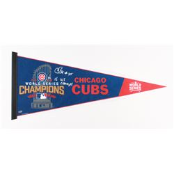 "Chris Bosio Signed 2016 Cubs Coaches World Series Pennant Inscribed ""16 WS Champs"" (Schwartz COA)"