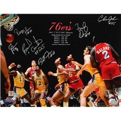 1983 76ers Champions 16x20 Photo Signed by (6) with Clint Richardson, Franklin Edwards, Clemon Johns
