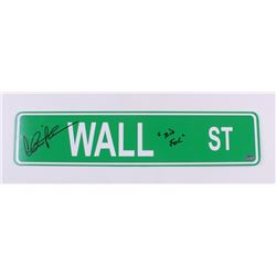 "Charlie Sheen Signed 4x18 ""Wall Street"" Sign Inscribed ""Bud Fox"" (Schwartz COA)"