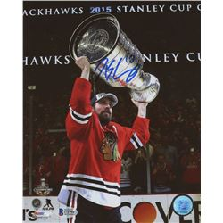 Patrick Sharp Signed Blackhawks 2015 Stanley Cup 8x10 Photo (Beckett COA)