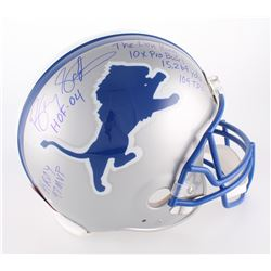 Barry Sanders Signed Lions Authentic On-Field Helmet with (7) Inscriptions (Schwartz COA)