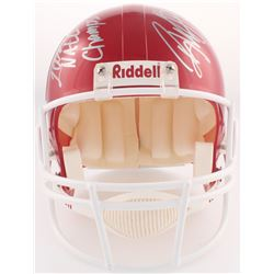 "Roy Williams Signed Oklahoma Sooners Full-Size Helmet Inscribed ""2000 Nat'l Champs"" (PSA COA)"