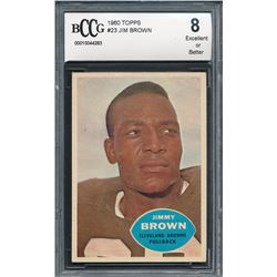 1960 Topps #23 Jim Brown (BCCG 8)