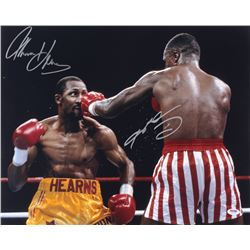 Thomas Hearns  Sugar Ray Leonard Signed 16x20 Photo (PSA COA)