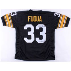 "John Fuqua Signed Steelers Jersey Inscribed ""I'll Never Tell"" (TSE COA)"