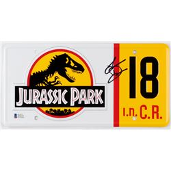 "Laura Dern Signed ""Jurassic Park"" License Plate (Beckett COA)"