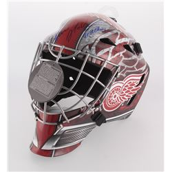 "Dominik Hasek Signed Red Wings Full-Size Goalie Mask Inscribed ""2x SC Champs"" (Schwartz COA)"