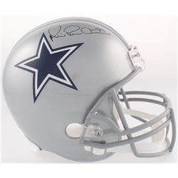 "Michael ""Playmaker"" Irvin Signed Cowboys Full-Size Helmet (JSA COA)"