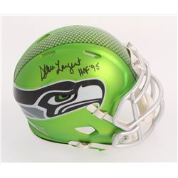 "Steve Largent Signed Seahawks Blaze Mini Helmet Inscribed ""HOF '95"" (Schwartz COA)"