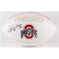Chris Spielman Signed Ohio State Buckeyes Logo Football (PSA COA)