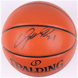 Dominique Wilkins Signed Game Ball Series Basketball (Schwartz COA)