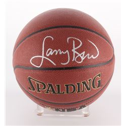 Larry Bird Signed NBA Basketball (Bird Hologram  Schwartz COA)