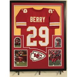 Eric Berry Signed Chiefs 34x42 Custom Framed Jersey Display (JSA COA)
