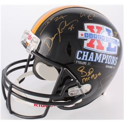Super Bowl XL Steelers Full-Size Helmet Signed by (10) With Jerome Bettis, Willie Parker, Heath Mill