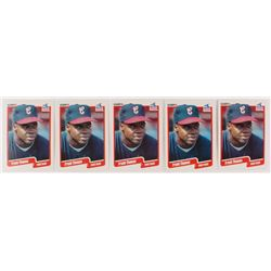 Lot of (5)  1990 Fleer Update #87 Frank Thomas RC