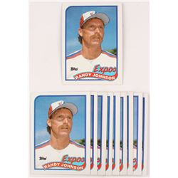Lot of (10) 1989 Topps #647 Randy Johnson RC