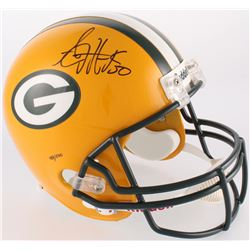 A. J. Hawk Signed Packers Full-Size Helmet (JSA COA  A. J. Hawk)