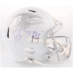 Steve Smith Sr. Signed Ravens Full-Size Custom Matte White ICE Speed Helmet (Radtke COA)