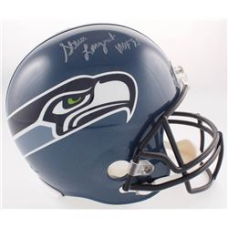 "Steve Largent Signed Seahawks Throwback Full-Size Helmet Inscribed ""HOF '95"" (JSA COA)"